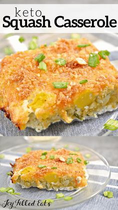This keto yellow squash casserole is mouth-wateringly delicious. It's made with flavorful yellow squash, has a creamy, cheesy sauce, and a crunchy topping. Low Carb Keto, Low Carb Recipes, Cooking Recipes, Bread Recipes, Yellow Squash Casserole, Zucchini Casserole, Healthy Squash Casserole, Tartiflette Recipe, Joy Filled Eats