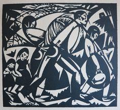 De Levensweg - houtsnede 1920 - Jan-Frans Cantré  (1886-1931, België))
