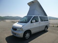Mazda Bongo Friendee with elevating roof, TD. They are becoming quite rare now and hard to source good ones. Mazda Bongo Friendee, Bongo Campervan, Customize Your Car, Import Cars, Camper Van, Motorhome, Bristol, Road Trip, Vans