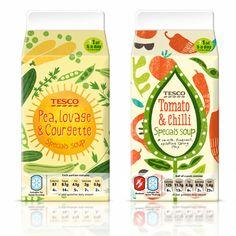 by Debbie Powell Yogurt Packaging, Juice Packaging, Brand Packaging, Food Packaging Design, Packaging Design Inspiration, Web Design, Type Design, Graphic Design, Fruit Logo