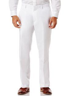 Cubavera Cotton Linen Herringbone Flat Front Pant $49.00 AT vintagedancer.com