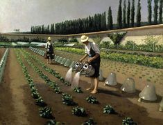 Gustave Caillebotte-The Gardeners