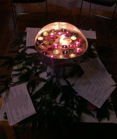 Advent prayer stations Another great use of fairy berries.