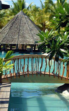 Beautiful pool at Sonaisali Island Resort! #pool #sonaisaliislandresort #fiji
