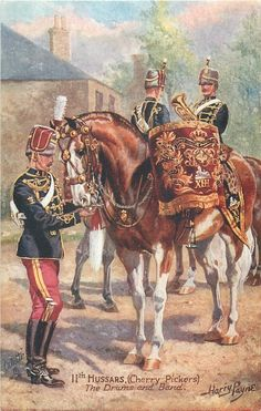 11TH HUSSARS, (CHERRY PICKERS) THE DRUMS AND BAND - Harry Payne