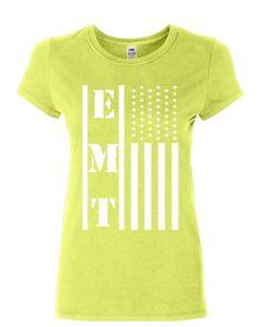 c56eda984 EMT Stars and Stripes Women's T-Shirt First Responders Paramedic EMS Shirt