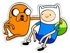 The Adventure Time car magnet measures 6 inches.