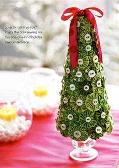 Arbol de navidad con yoyos
