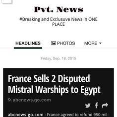 #France Pvt. News is OUT  http://ift.tt/1CeNjph #PvtNews Or Google #PvtNews