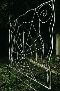 Iron Bed Canopy Queen Sz. Wrought Iron Bed, Gothic , Spiderweb Style