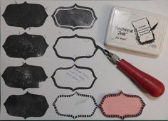 Stempel Yvon: Stamp Carving les 5: Kader