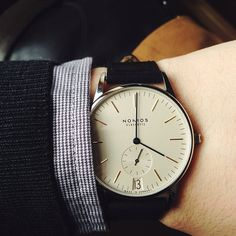 Switched to the Nomos Orion for the afternoon. #womw #wornandwound