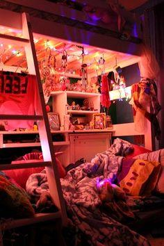 PASTEL, BEDROOM, decor, interior, pretty, dream lites, fariy lights, dream room, kids room, teenager, teen, pink