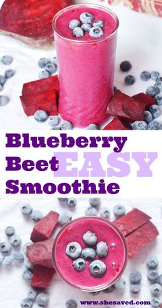 Add this heathy food option into your breakfast routine! This blueberry beet smoothie recipe is perfect, with just a few ingredients and so easy to make! Beet Smoothie, Fruit Smoothie Recipes, Strawberry Smoothie, Smoothie Drinks, Breakfast Smoothies, Heathy Drinks, Green Smoothies, Detox Drinks, Smothie