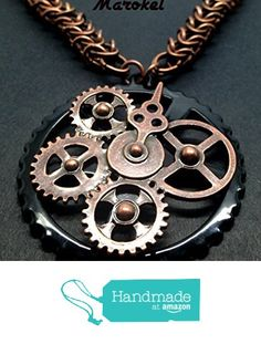 Clockwork Copper Chain Maille Necklace Steampunk Gears Oval Box Chain from Marokel Industrial Designs http://www.amazon.com/dp/B01AX40RUA/ref=hnd_sw_r_pi_dp_FKwOwb1FDERPC #handmadeatamazon