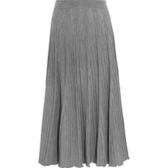Chloé Ribbed wool-jersey maxi skirt ($1,025) ❤ liked on Polyvore featuring skirts, pleated maxi skirt, wool jersey, gray maxi skirt, grey pleated maxi skirt and party skirts