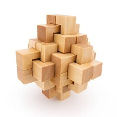 Wooden Kong Ming Lock Puzzle #LavaHot http://www.lavahotdeals.com/us/cheap/wooden-kong-ming-lock-puzzle/117037