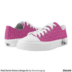 Shop Pink Pyrite Pattern design for Low-Top Sneakers created by futureimaging.