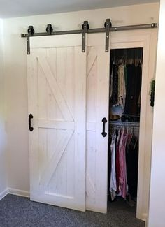 This Single Track Bypass Barn Door Hardware Kit Allows Two Doors To  Over Lap Each