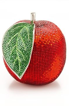 Shiny Red Apple Clutch / Judith Leiber