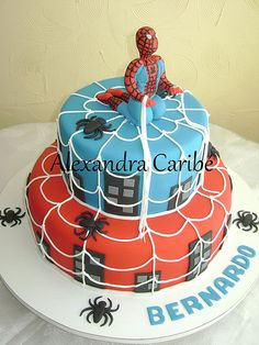 Bolo homem aranha - spiderman cake