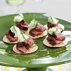 Beef Teriyaki Crisps with Wasabi Mayonnaise | MyRecipes.com
