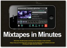 Dragontape allows you to search for YouTube videos and drag them to a timeline. You can then trim each movie's beginning and ending points. Mark Brumley