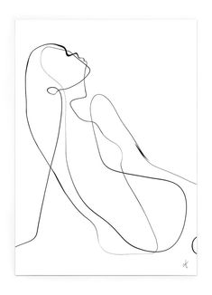 Abstract Line Art, Abstract Portrait, Outline Drawings, Pencil Art Drawings, Modern Art Prints, Fine Art Prints, Art Prints Online, Woman Drawing, Portrait Illustration