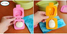 hard boiled egg molds are cute and such an easy way to put a smile on your kid's faces when they open thir lunch!