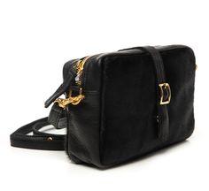 black haircalf mini sac by clare vivier