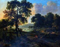 Jan Wijnants - Landschap met een jager