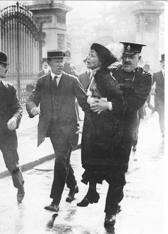Votes for women, as fought for here by Emmeline Pankhurst. Never forget the high price that has been paid for this cherished possession.