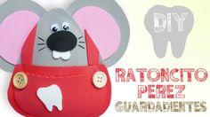DIY RATONCITO GUARDADIENTES GOMA EVA (FOAMY) ♥ Qué cositas