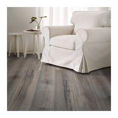 TUNDRA Laminated flooring, white whitewash oak effect - IKEA Quality Furniture, Modern Furniture, Home Furniture, Nordic Home, Wet Rooms, Minimalist Decor, Decorating On A Budget, Laminate Flooring, Armchair