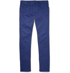 BalenciagaSlim-Fit Overdyed Cotton-Blend Gabardine Jeans