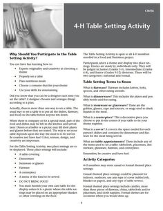 WSU - 4-H Table Setting Activity  sc 1 st  Pinterest & Image result for 4-h table setting guidelines | 4h ideas for joseph ...