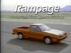 1982 Dodge Rampage commercial