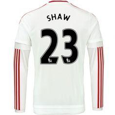 Manchester United Jersey 2015/16 Away LS Soccer Shirt #23 Shaw