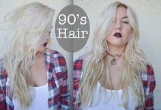 Alexsis Mae : 90's Grunge Hair Style TUTORIAL