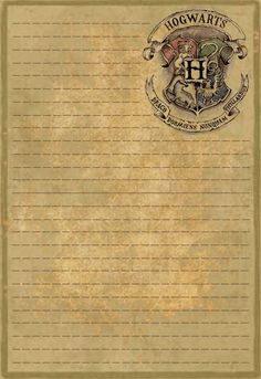 was looking for Hogwarts stationery and could not find any, so I made some. This is the first, just a plain letterhead.I was looking for Hogwarts stationery and could not find any, so I made some. This is the first, just a plain letterhead. Magie Harry Potter, Cadeau Harry Potter, Harry Potter Bricolage, Classe Harry Potter, Harry Potter Thema, Cumpleaños Harry Potter, Mundo Harry Potter, Anniversaire Harry Potter, Harry Potter Birthday