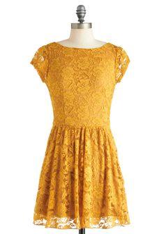 Modcloth - Roadside Poppy Dress in Lemon Zest❤  #fashion #colourtrends #colour #toptotoe