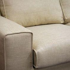 Baxton -Campbell Cream Twill Modern Sectional Sofa