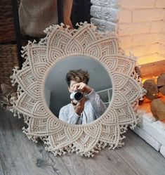 Wonderful Cost-Free Macrame Wall Hanging mirror Style Macrame wall mirror, FAST SHIPPING AVAILABLE, wall hanging mirror, vintage mirror, gift for women. Macrame Mirror, Macrame Wall Hanging Diy, Handmade Wall Hanging, Macrame Art, Macrame Projects, Art Macramé, Bedroom Decor For Couples, Diy Bedroom, Macrame Design