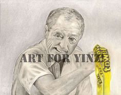 Pittsburgh Steelers Myron Cope Original Art by tempym on Etsy, $55.00