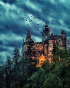 Creepy night at Dracula& mansion & Bran Castle, Transylvania, Romania. Photo by Would you like to spend a night in this place? & The post Creepy night at Dracula& mansion Bran appeared first on . Chateau Medieval, Medieval Castle, Castle Ruins, Beautiful Castles, Beautiful Places, Draculas Castle Romania, Places To Travel, Places To Visit, Travel Destinations
