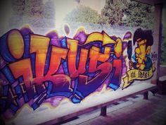 Ikusi eta ikasi. Graffiti efímero en el campus de Donosti. Quincena urbana organizada por DeustoCampus Cultura