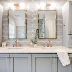Master Bath Remodel, Remodel Bathroom, Kohler Bathroom, Master Bathroom Vanity, Grey Bathroom Cabinets, Boho Bathroom, Master Bathroom Layout, Bathroom With Tile Walls, Double Sink Bathroom