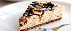 This healthy, high-protein cheesecake contains 25g of protein per slice. Oh, and did I mention it also contains peanut butter!
