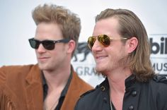 Brian Kelley, left, and Tyler Hubbard, of the musical group Florida Georgia Line