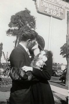 Showing some love. With that corsage, I wonder if they just got married !